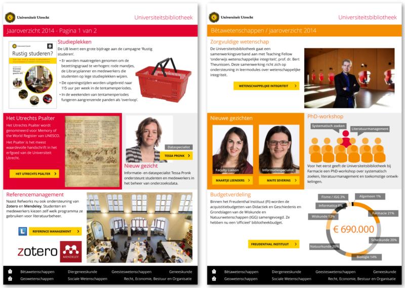 Jaaroverzicht 2014 (Universiteitsbibliotheek Utrecht)