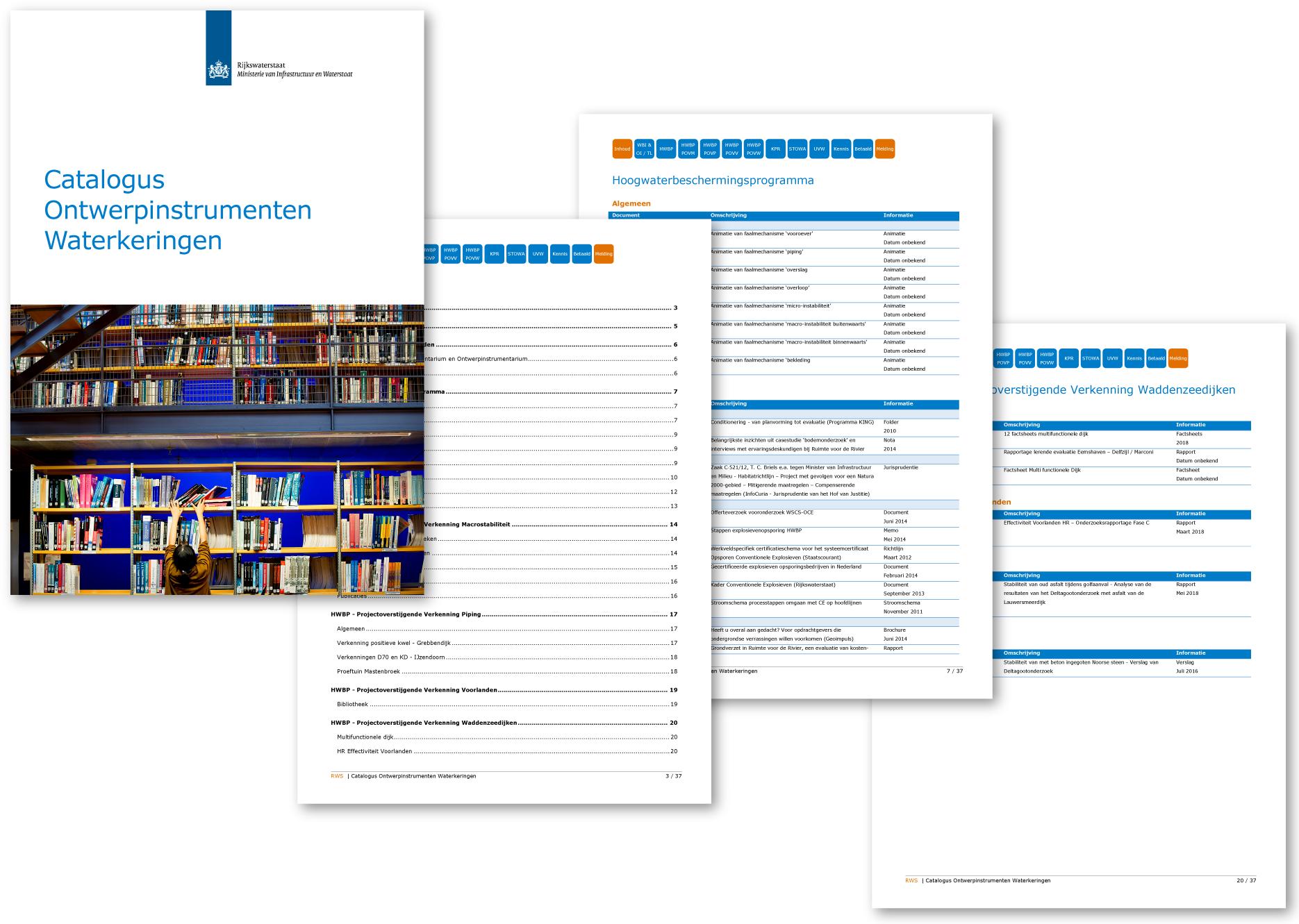 Catalogus Ontwerpinstrumenten Dijkwerken (Rijkswaterstaat)